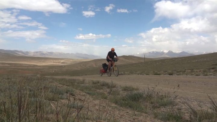 Kyle Dempster pedals across Kyrgyzstan (from <em>The Road to Karakol</em>)