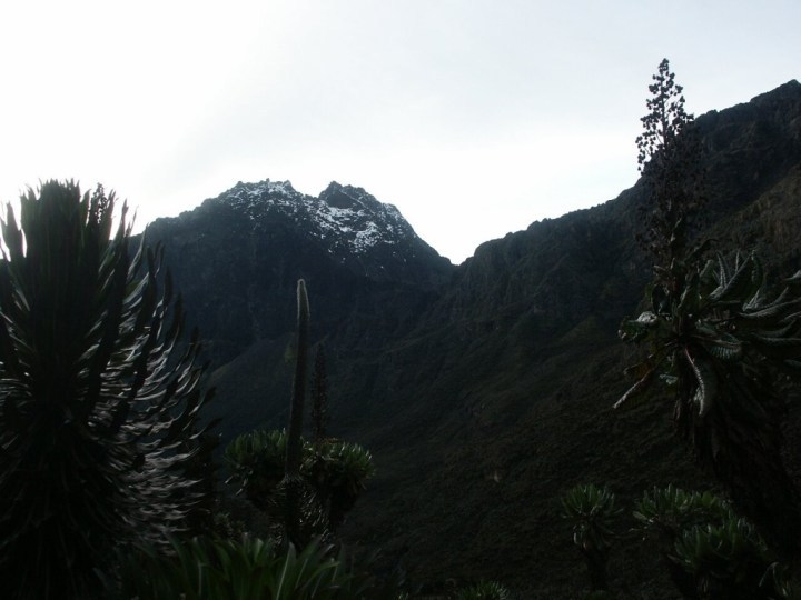 The Rwenzori Mountains in Uganda, a place notorious for poor visibility