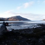 There are some pleasant places to write a diary. Here I am on a beach on the Knoydart peninsular in Northwest Scotland