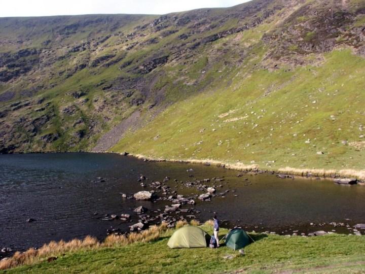 Camping wild beside idyllic Bowscale Tarn