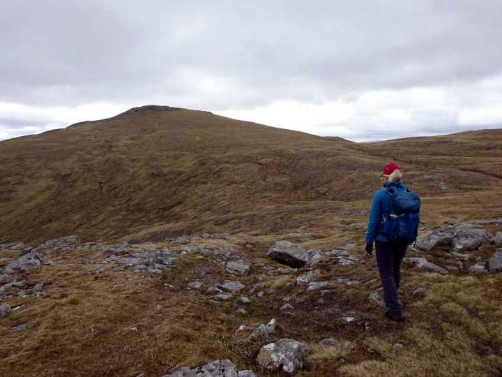 Approaching Chno Dearg from Stob Coire Sgriodain