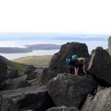 Sgurr Alasdair to Sgurr Mhic Choinnich: the secret of Collie's Ledge
