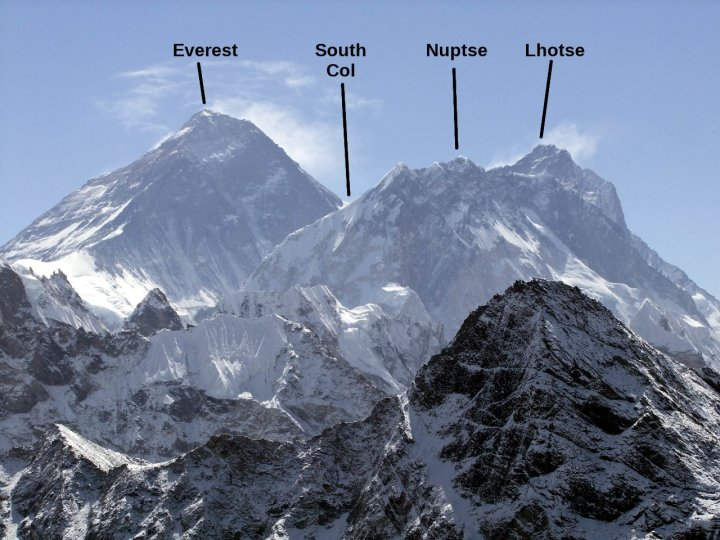 Everest, Nuptse and Lhotse from Gokyo Ri