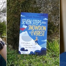 My very first audiobook – Seven Steps from Snowdon to Everest, narrated by Philip Battley