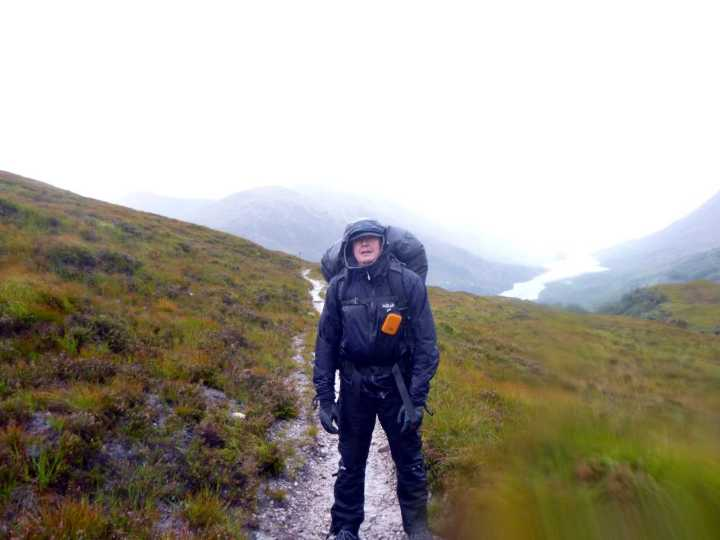 Me above Kinlochleven during a painful retreat from Luibeilt