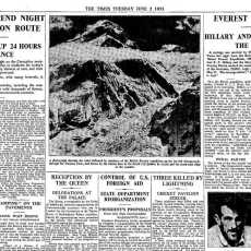 What was Jan Morris's secret code to say that Everest had been climbed?