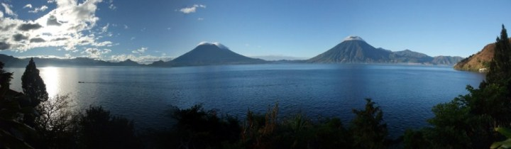 Lake Atitlan is a peaceful place to relax in the central highlands surrounded by volcanoes
