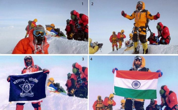 Two Indian police officers consign themselves to notoriety by Photoshopping their summit photos (Photos: Satyarup Siddhantha)