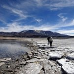 The salt lake of Laguna Verde, Puña de Atacama, Chile