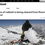 Tonnes of rubbish is being cleared from Mount Everest - or is it?