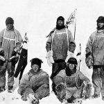 When Robert Falcon Scott and his party reached the South Pole a month after Amundsen, they had man-hauled the entire way without an internet connection. Perhaps that's why they all looked so cheerful when they got there. (Photo: Henry Bowers)