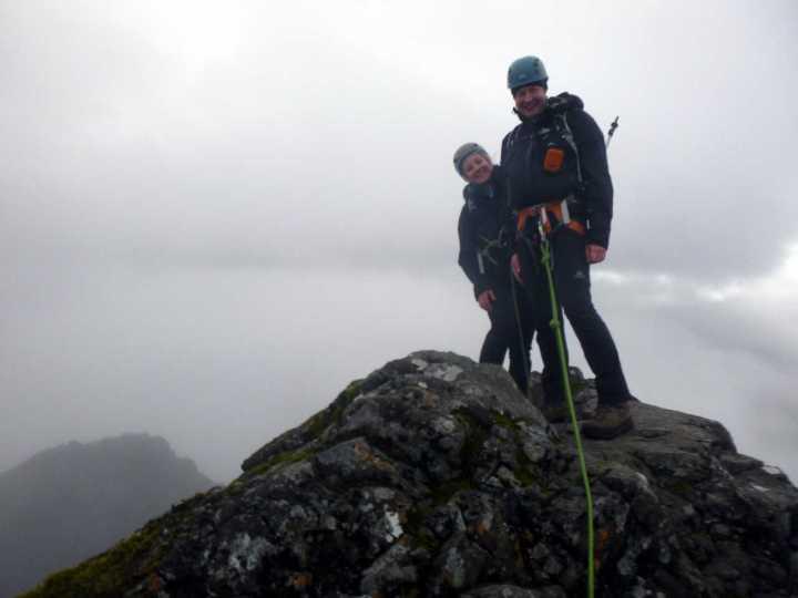 Edita and me on the summit of Sgurr Alasdair
