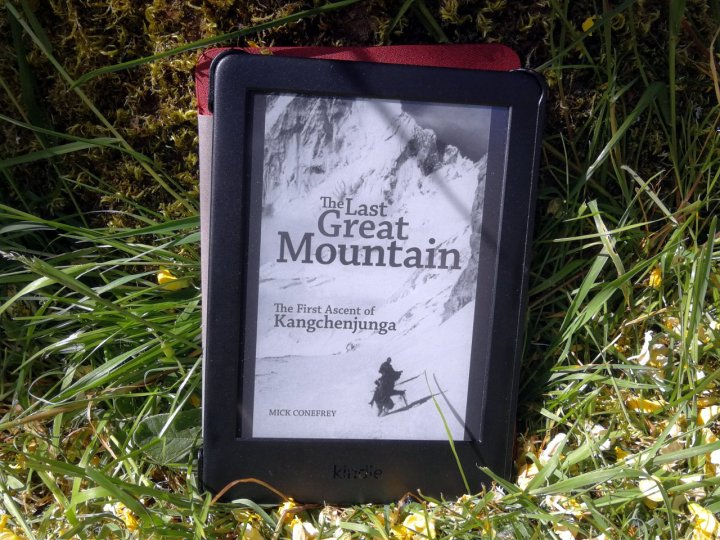 The Last Great Mountain on my latest great Kindle