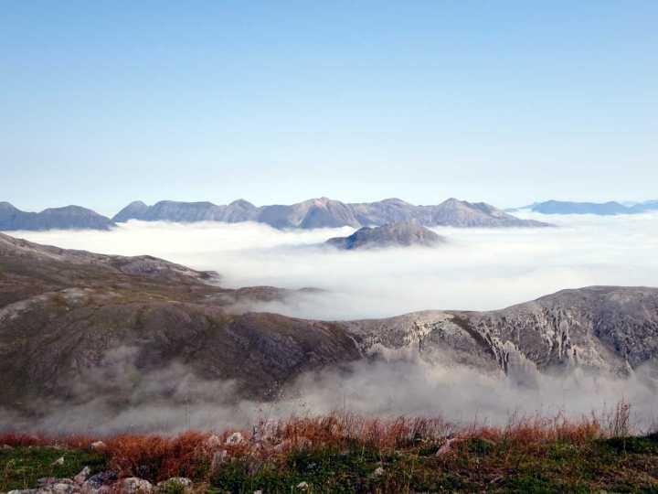 The Torridon peaks seen from the eastern summit of Beinn Liath Mhor