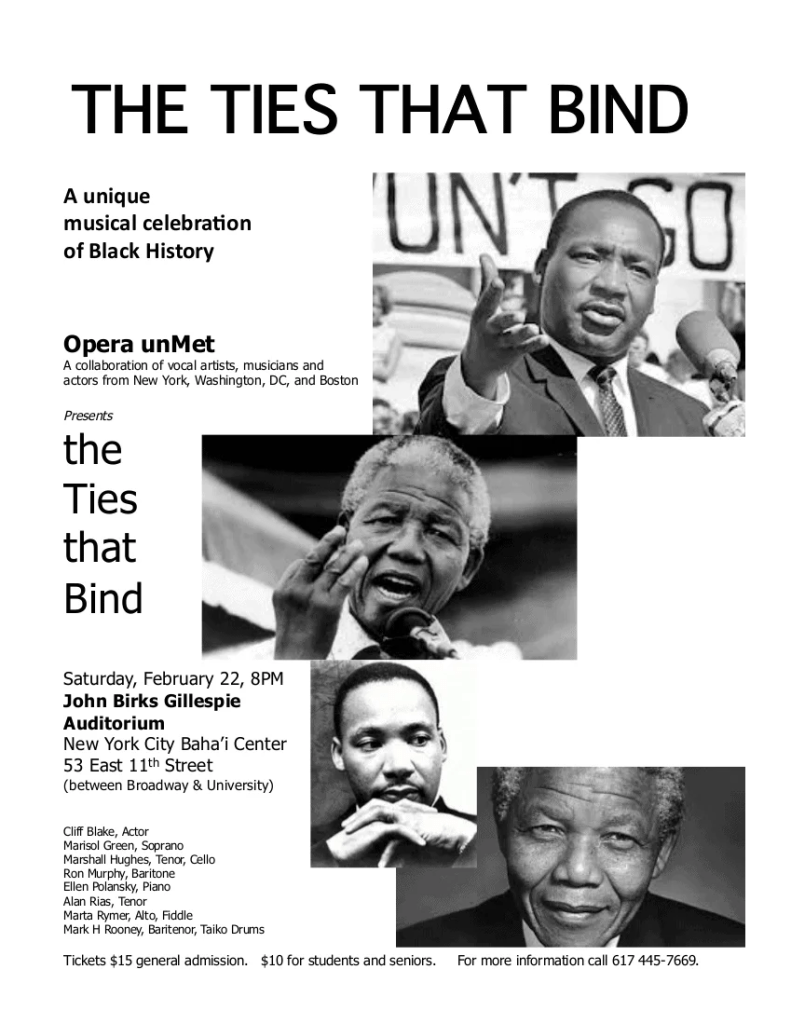 The Ties that Bind: A Unique Musical Celebration of Black History