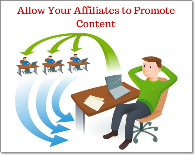 Allow Your Affiliates to Promote Content