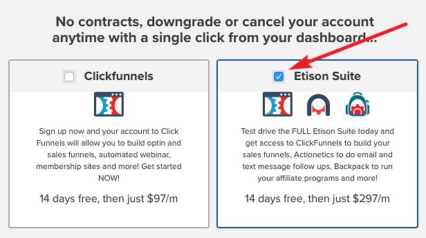 ClickFunnels Etison Suite Plan