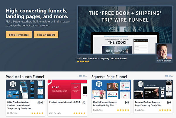 ClickFunnels MarketPlace and Templates