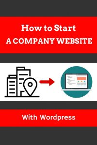 How to start a company website