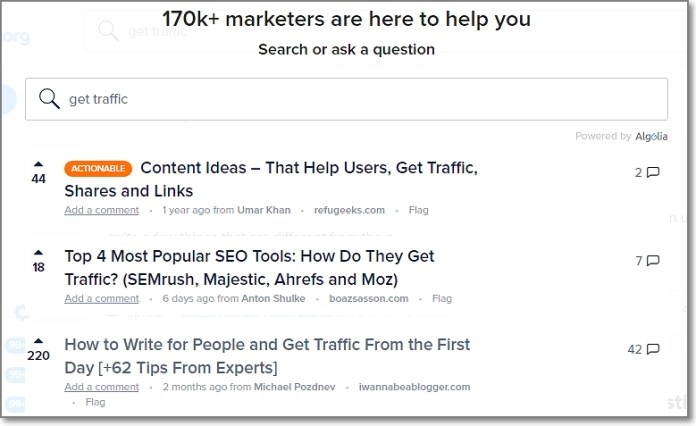 You can also use their search feature to find the most popular articles and their authors