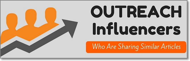 Outreach to Influencers Who Have Shared Other Similar Articles