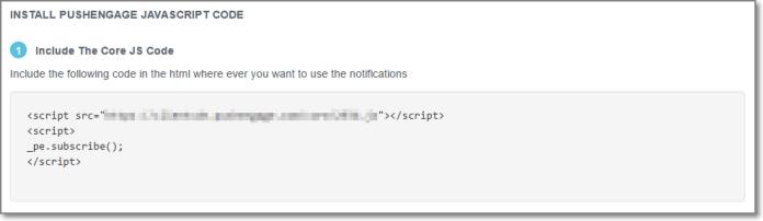 PushEngage Javascript Code