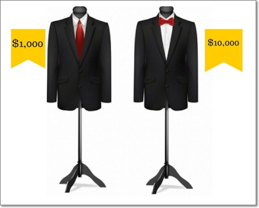 What's the best way to sell a $1,000 suit? - put a $10,000 suit next to it!