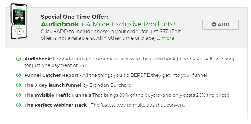 traffic secrets audiobook bonus