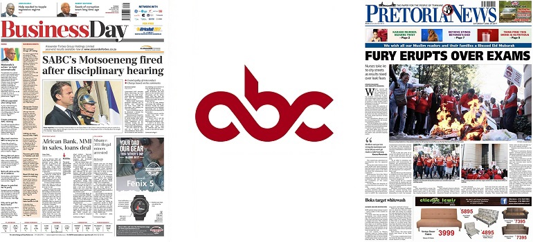 ABC results newspapers August 2017