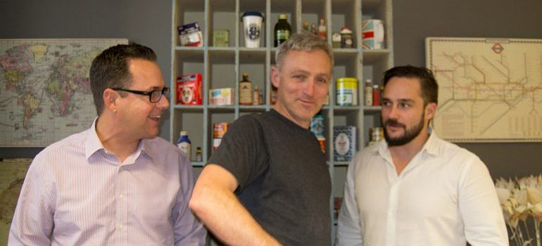 L-R: Conversation Lab founders: MD Kevin Power, ECD Christian Anstice and head of technology Jon Oliff