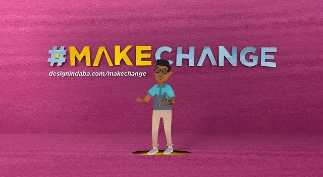 Design Indaba 2015 #MAKECHANGE TVC screengrab - #makechange