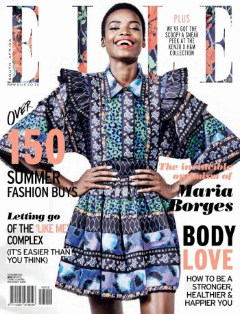 ELLE South Africa, November 2016: Maria Borges