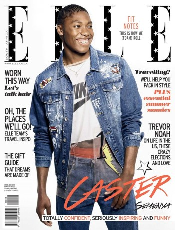 ELLE South Africa, December 2016: Caster Semenya