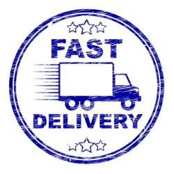 Fast Delivery Stamp Means High Speed And Courier by Stuart Miles courtesy of FreeDigitalPhotos.net