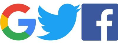 Google, Twitter and Facebook