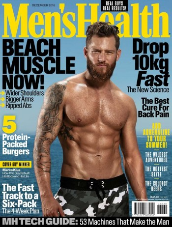 Mens Health South Africa, December 2016: Marco Klue