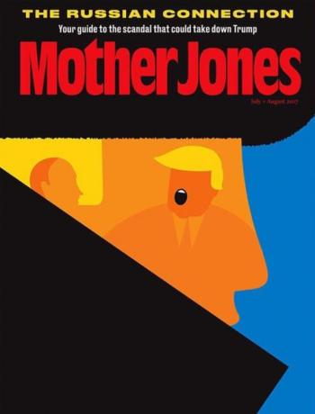 Mother Jones, July/August 2017 - Donald Trump and Vladimir Putin
