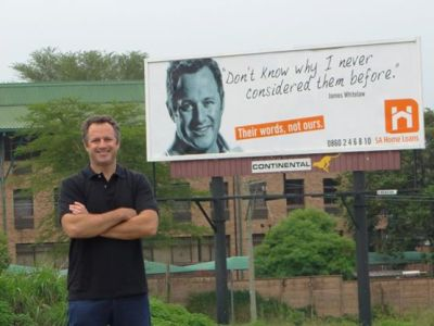 SA Home Loans - James Whitelaw billboard
