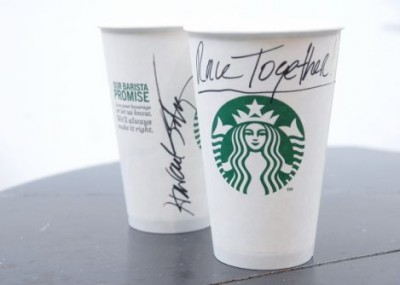 Starbucks Coffee #RaceTogether. Pic: Starbucks.com