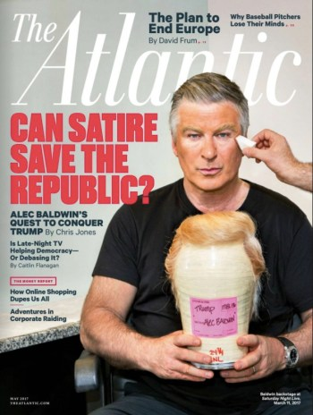 The Atlantic, May 2017: Alec Baldwin as Donald Trump