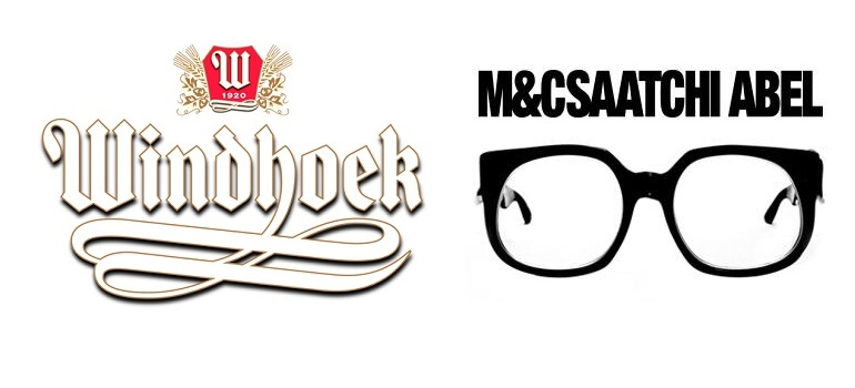 Windhoek Beer logo and M&C Saatchi Abel logo
