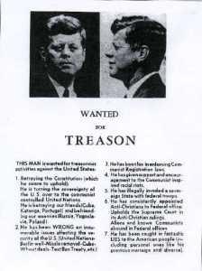 JFK - 1963 wanted for treason
