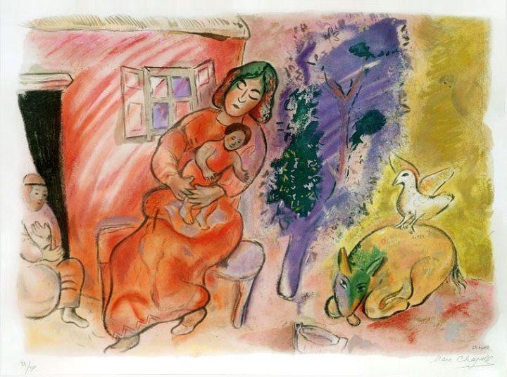 Marc Chagall - Maternité (1954)