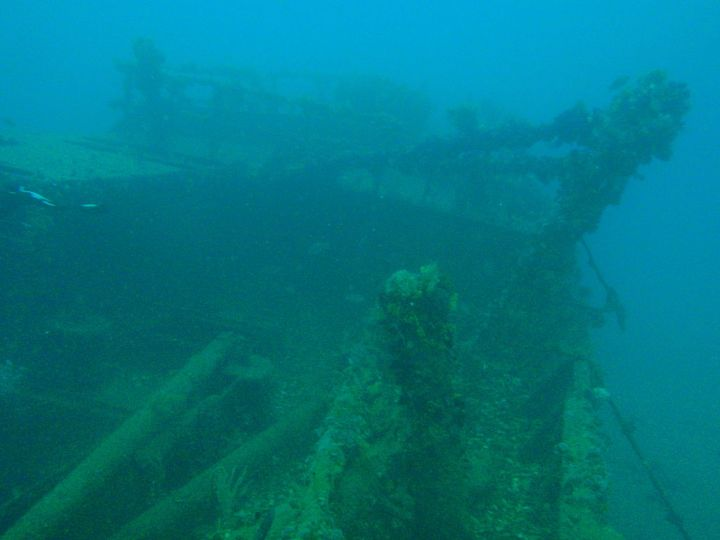 Forecastle of the wreck of MFV Princess Elizabeth by Peter Southwood