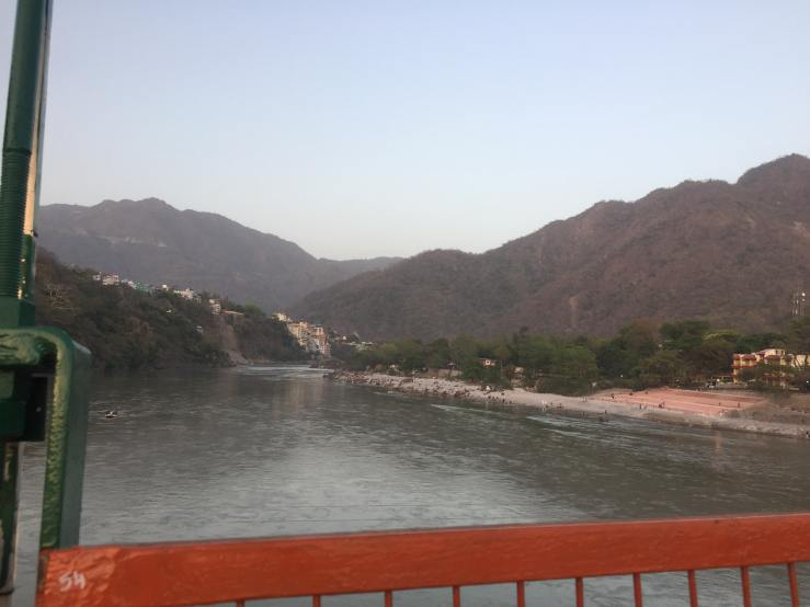 View From Ram Jhula Rishikesh