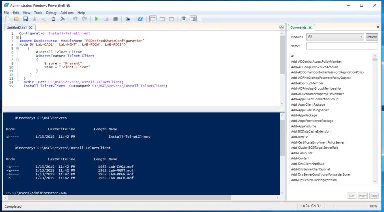 Applying basic system configuration using PowerShell DSC