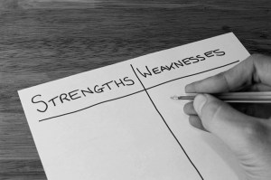 Strengths and Weaknesses - Internal Part of a SWOT Analysis