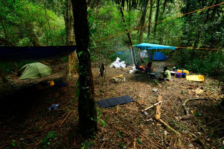 Camp at 1150 m