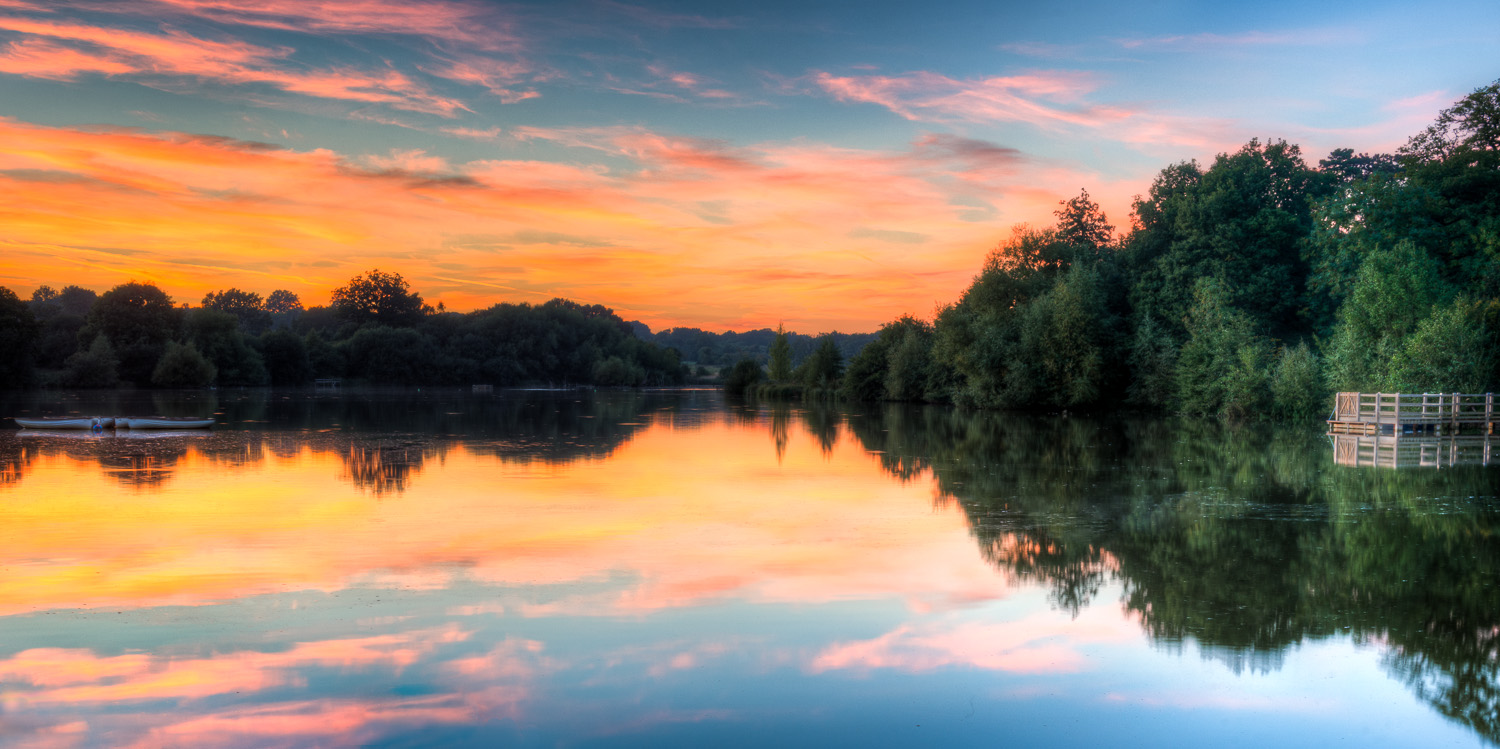 Hatfield Forest Lake At Sunset Essex Photography By
