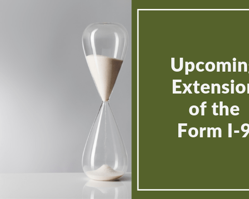 Upcoming Form I-9 Extension